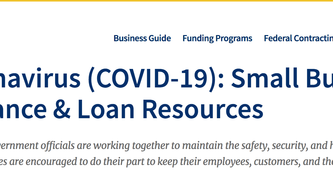 Coronavirus (COVID-19): Small Business Guidance & Loan Resources